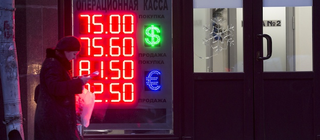 With fall of ruble, Russia's economy trying to find a new bottom