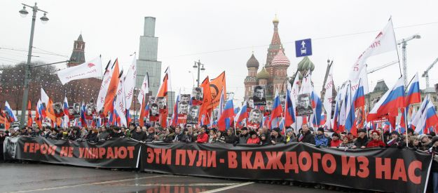 Tens of thousands gather in Moscow to mourn Boris Nemtsov