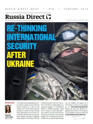 Russia Direct Brief: 'Re-Thinking International Security After Ukraine'